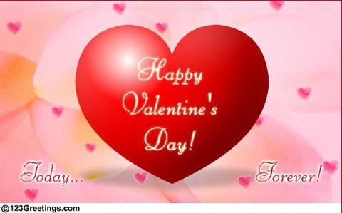 My heart to your heart,happy valentine.