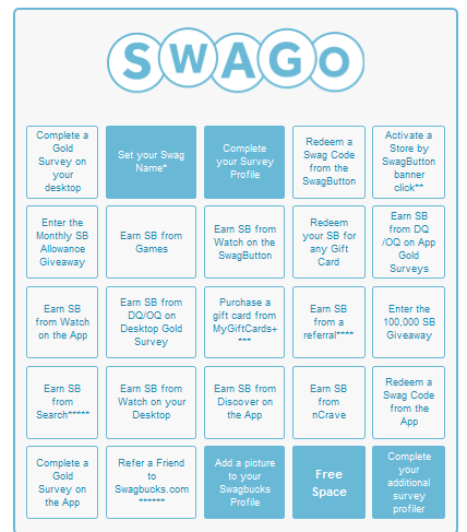 My SWAGO game board