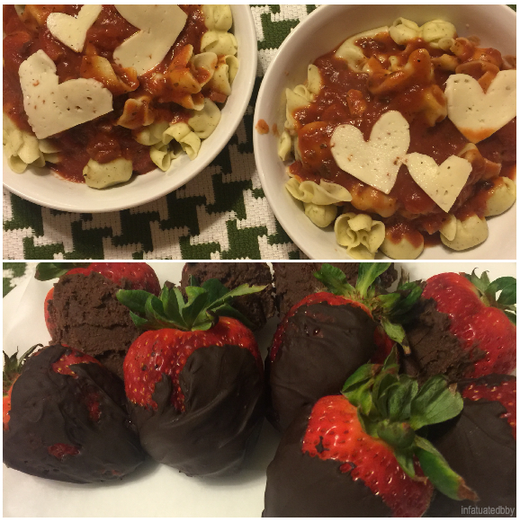 Belated Valentine's Day Dinner featuring Perline Pasta & Prosciutto + Chocolate Covered Strawberries