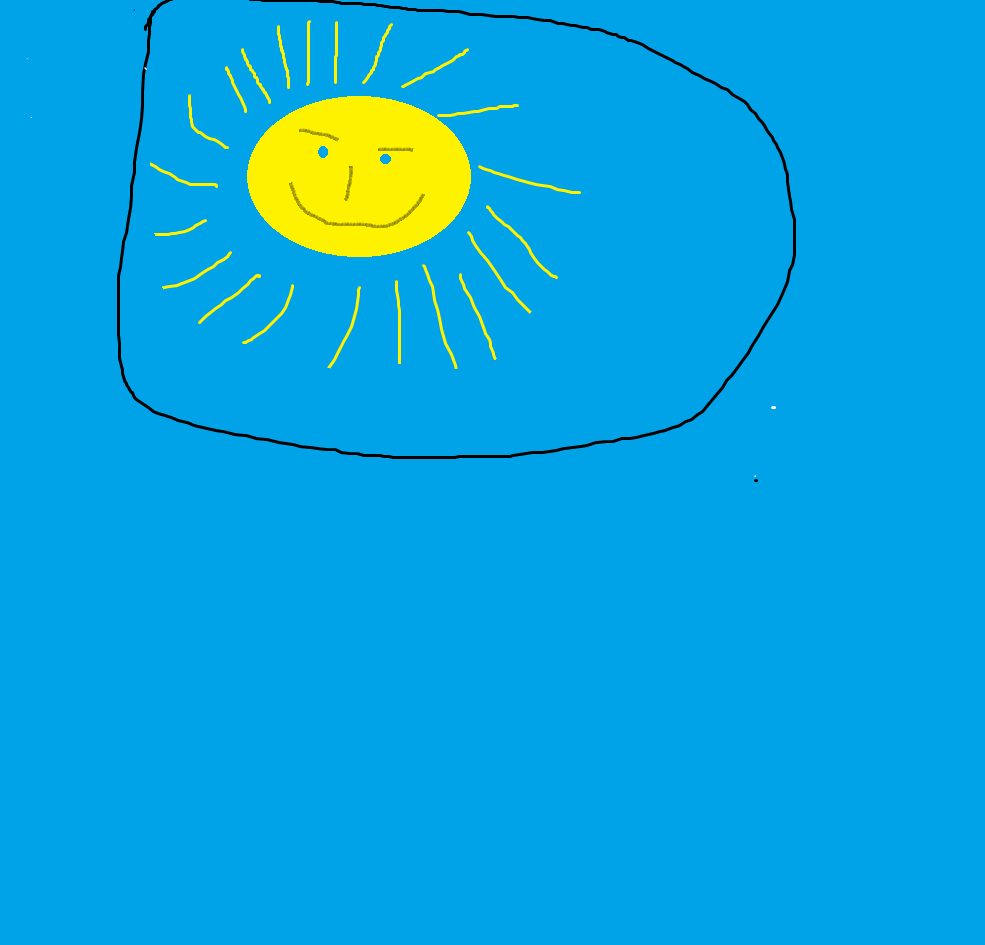 blue sky, sunny,