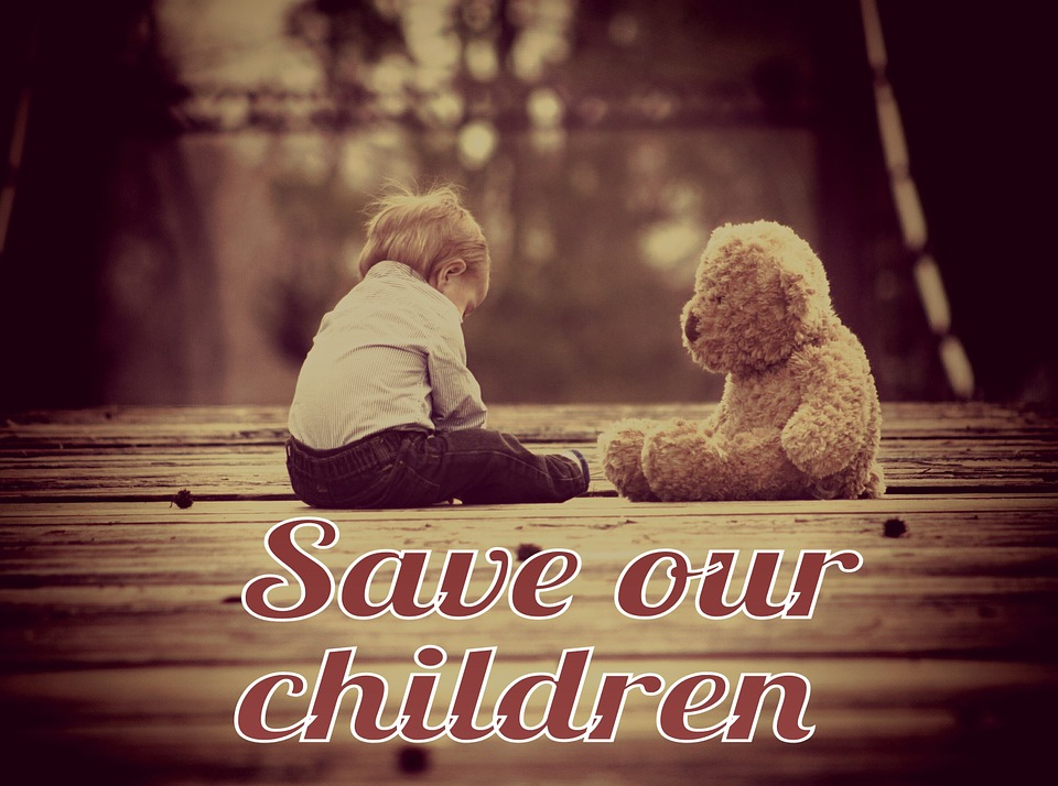 Save our children image from Pixabay
