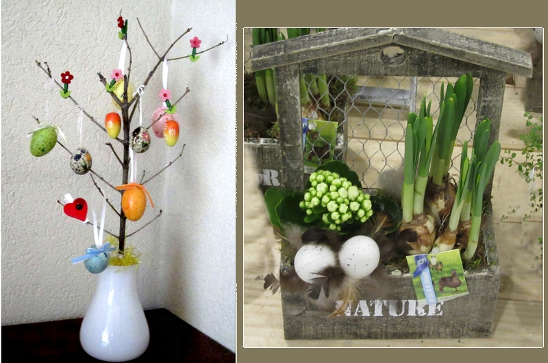 Easter decorations, personal image by LadyDuck