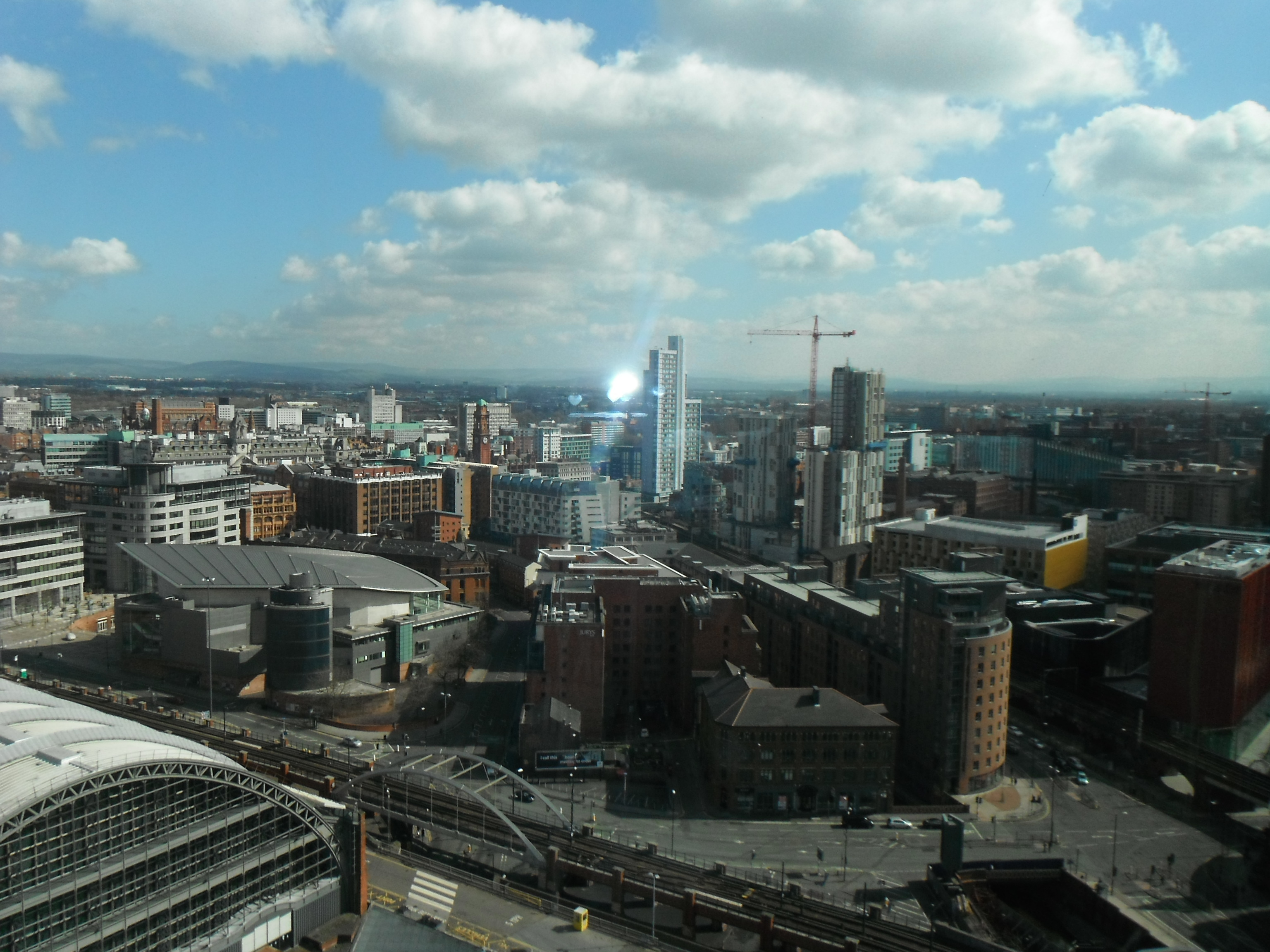 Photo taken by me – The view of Manchester from the Beetham Hotel venue used for the convention.