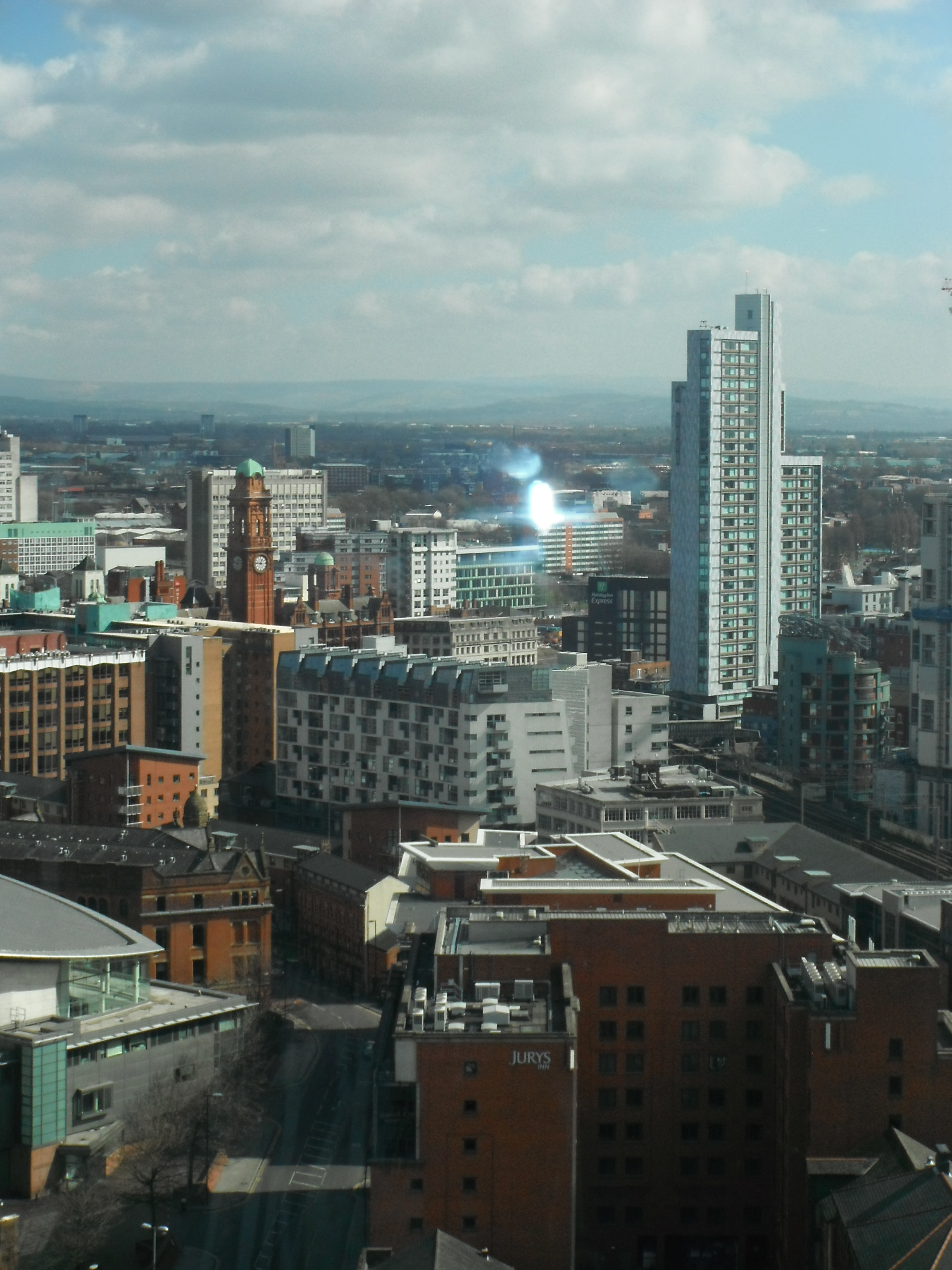 Photo taken by me – Manchester viewed from The Beetham Hotel
