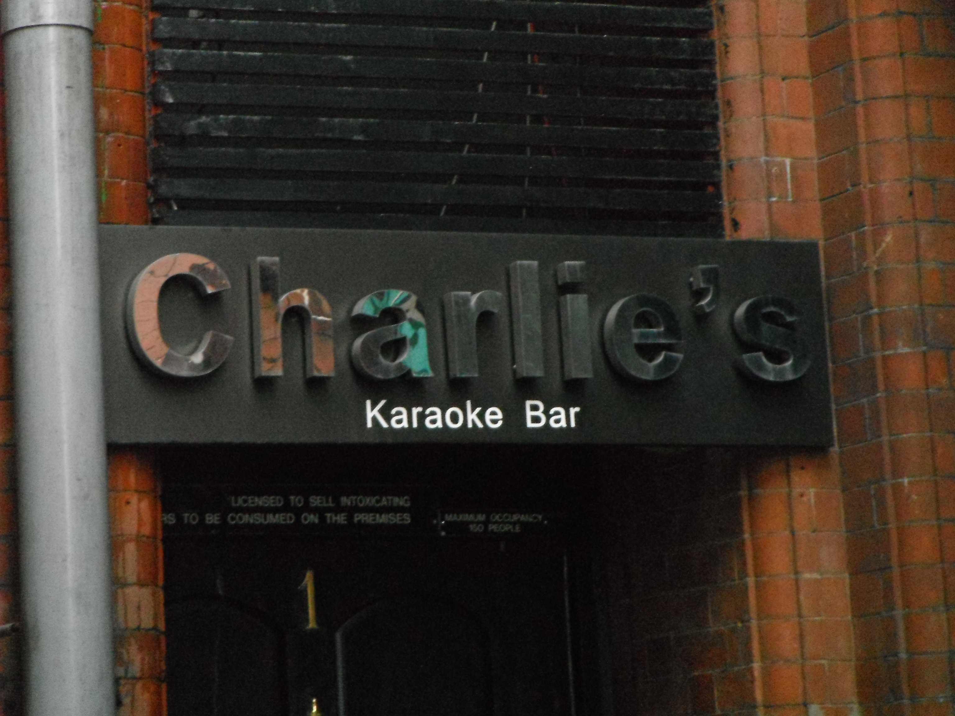 Photo taken by me – Charlie's Bar, Manchester