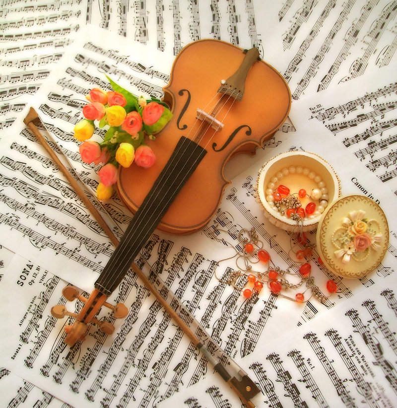 violin, papercraft, beautiful, musical instrument