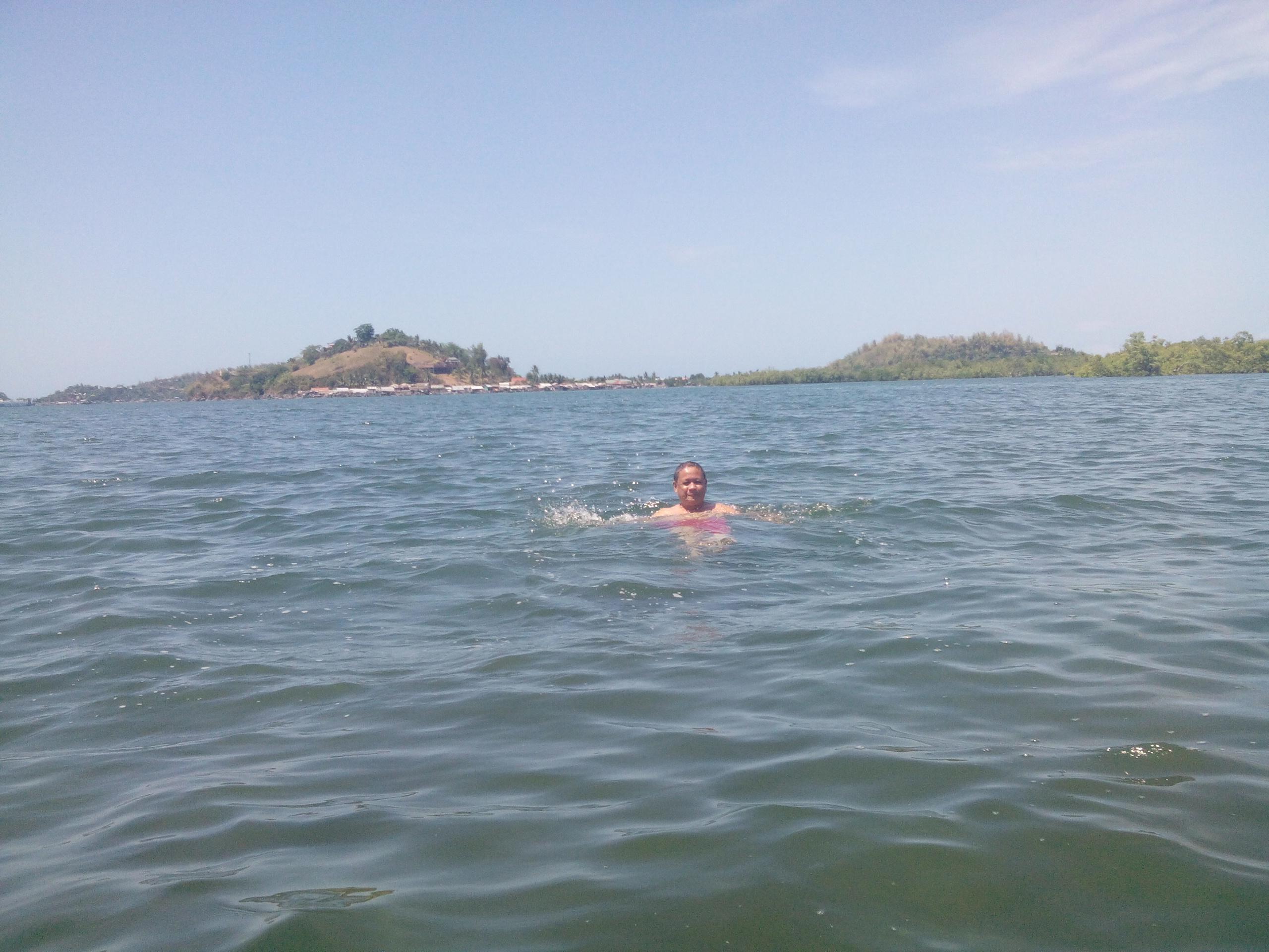 swimming to beat the summer heat