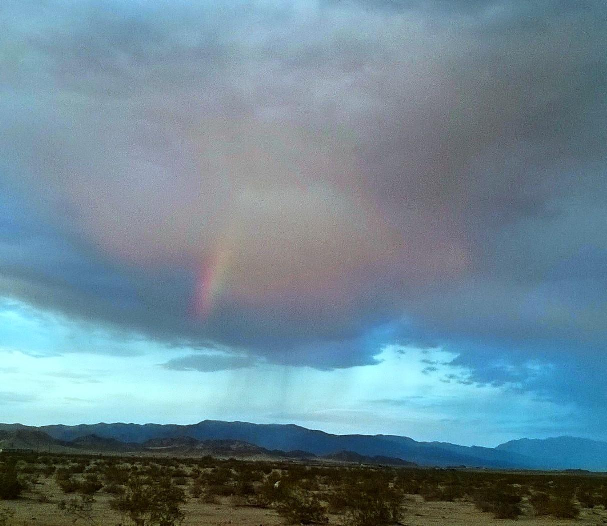 A rainbow at sunset...amazing!