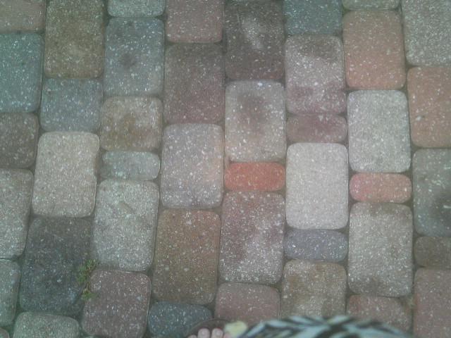 A sidewalk in Salina, Ks.