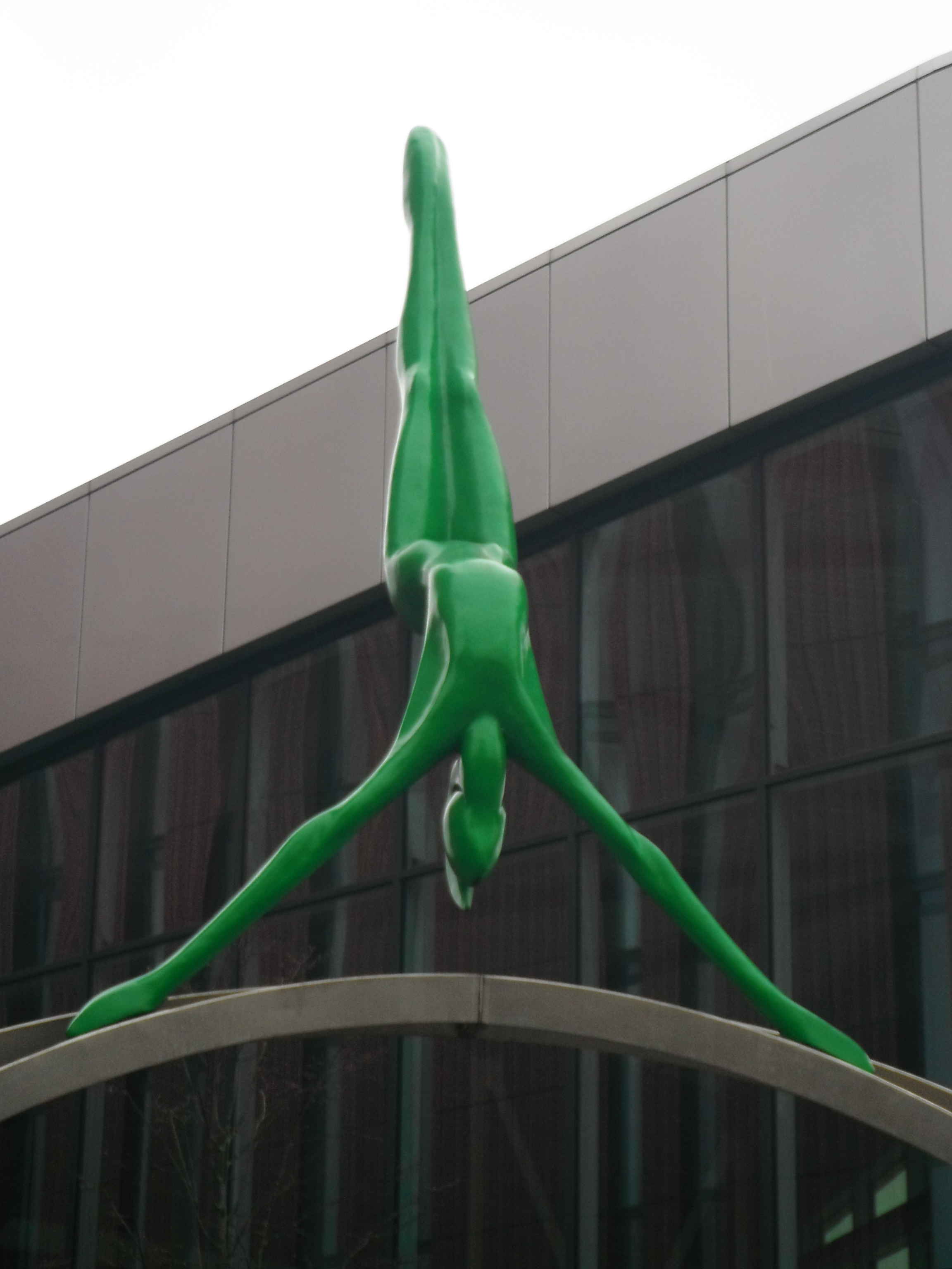 Photo taken by me – The statue of a Gymnast in Manchester city centre.