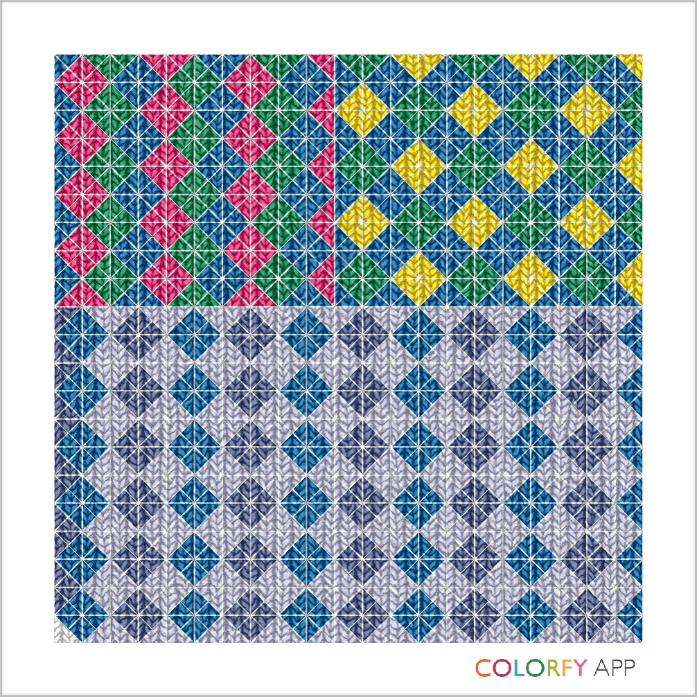 Argyle patterned picture made with colorfy, Marsha Musselman © 2016
