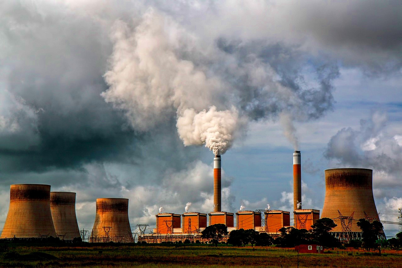 Coal-burning electical power plant - image source: Pixabay