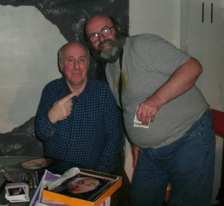 Photo taken by Chris Brooks – me with Norman Lovett