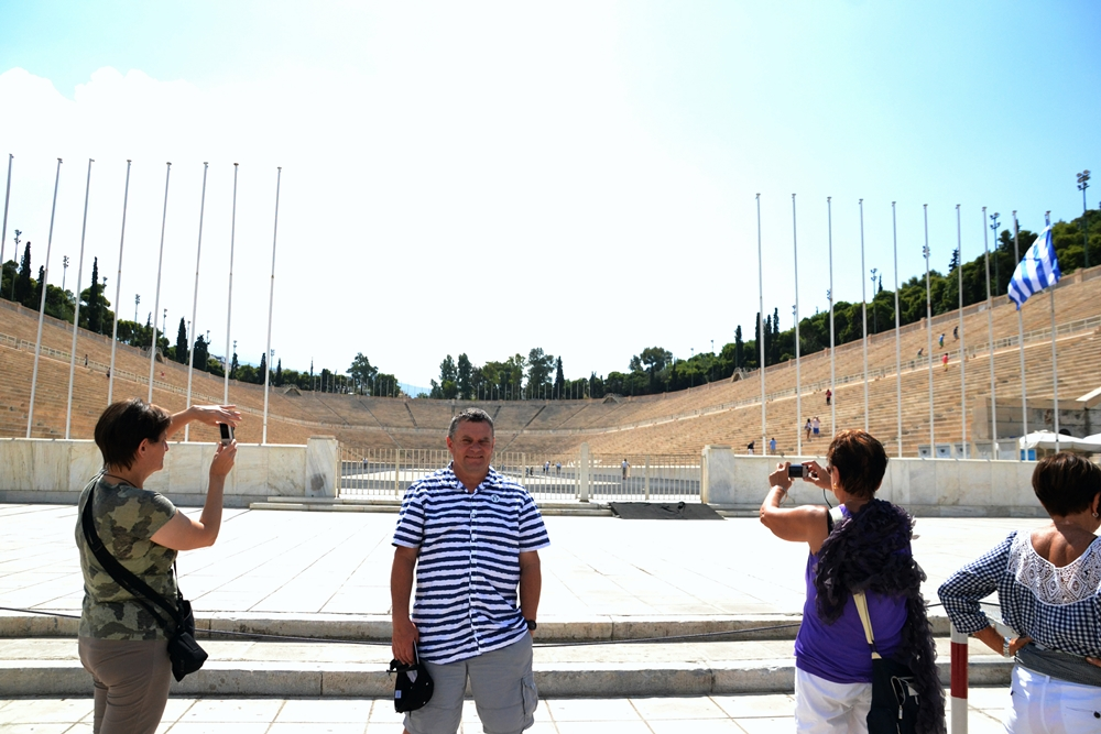 Athens Olympic Arena and André