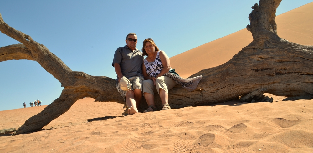 two of us in  Namibia