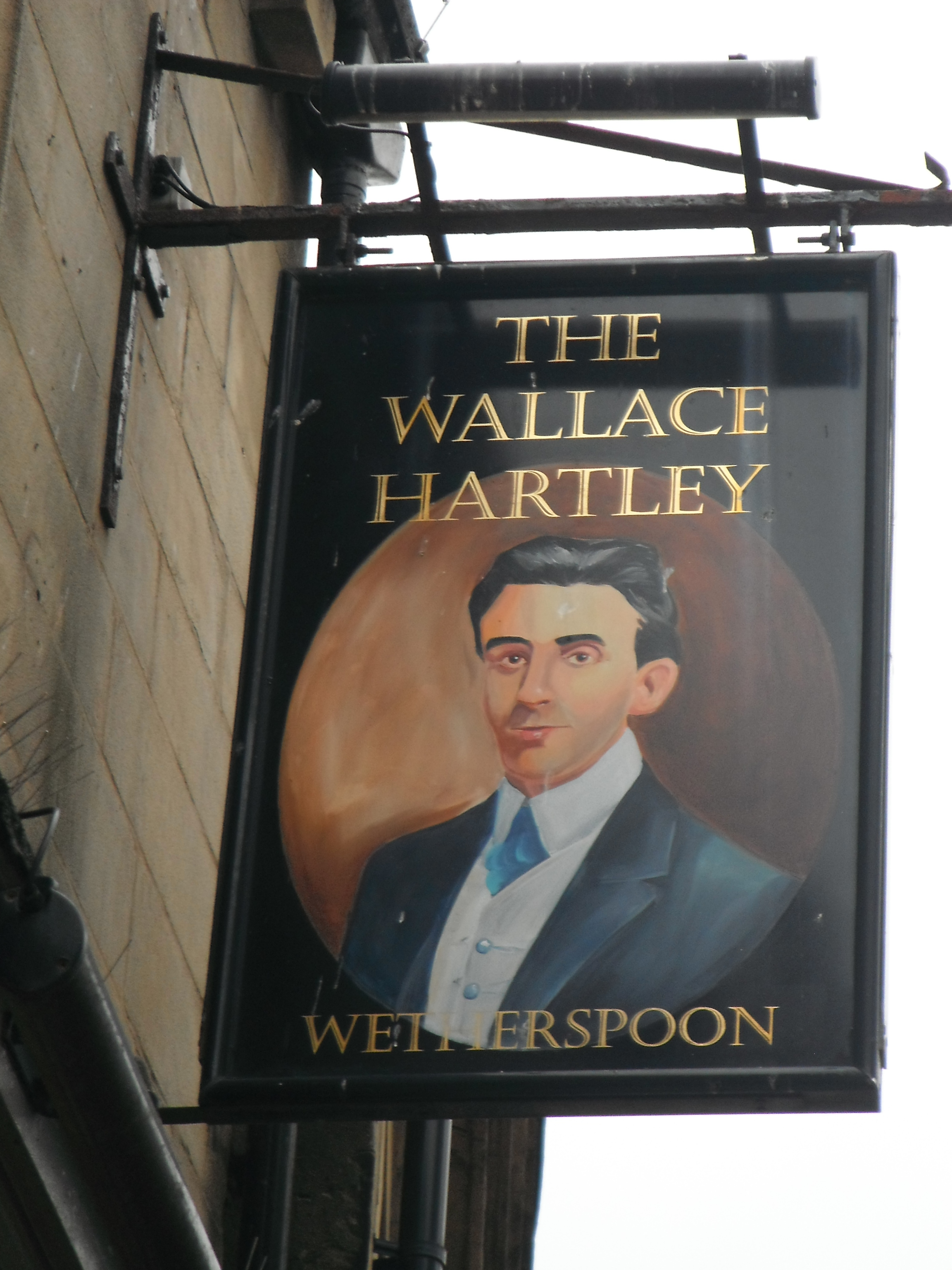 Photo taken by me - The Wallace Hartley pub sign - Colne Lancashire