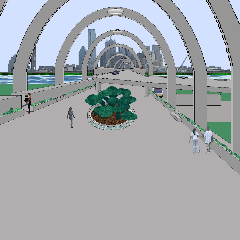 Futurepaths, Pedestrian Walkpath and Skybrdge by A.P. Davis