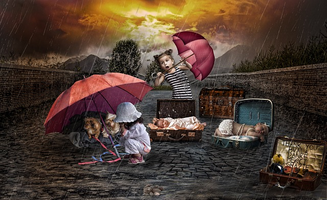 Children in Storm