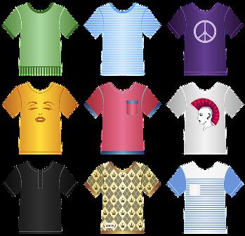 https://pixabay.com/en/t-shirts-tees-clothing-clothes-1144189/