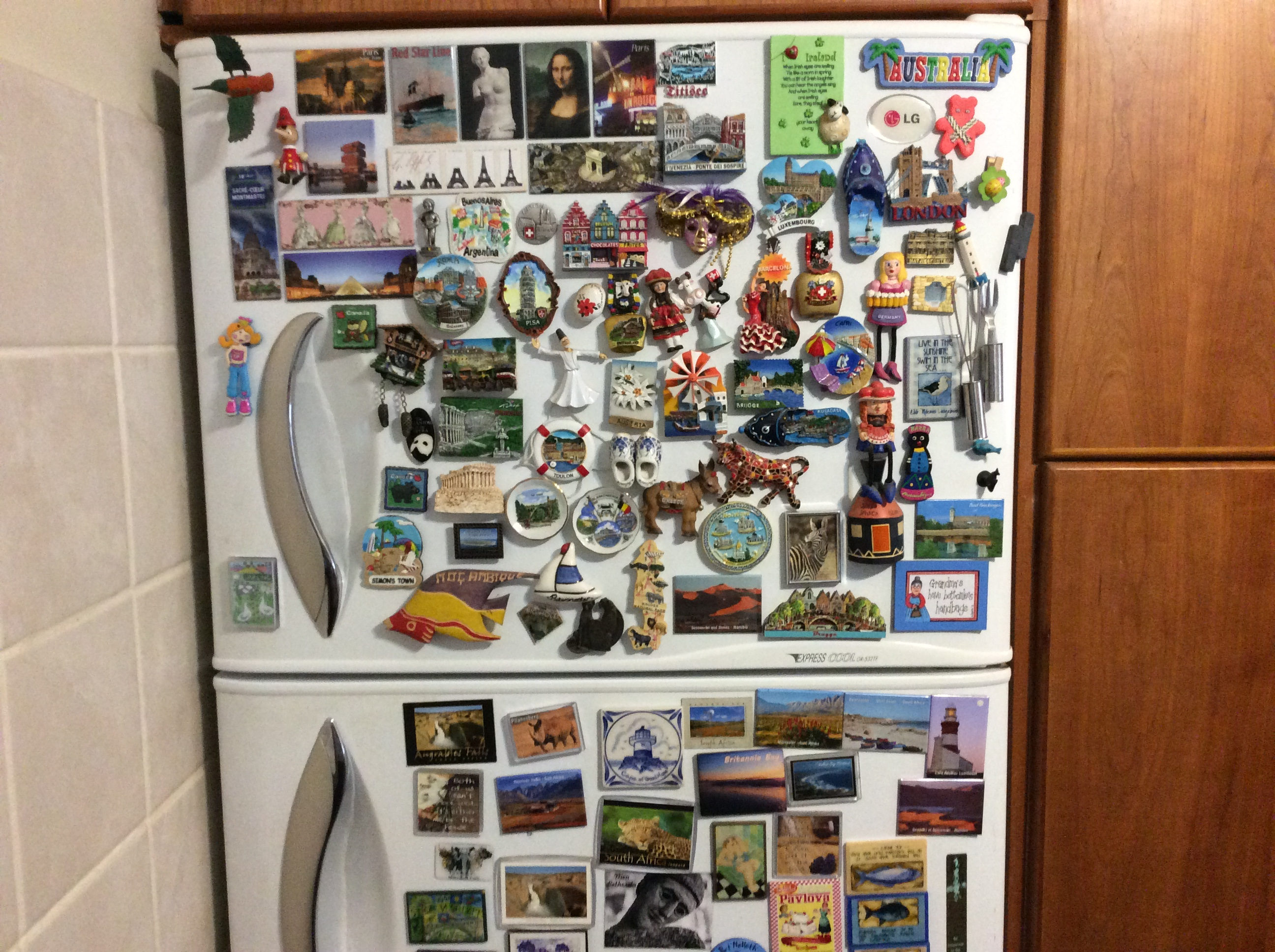 Fridge ornate with magnets