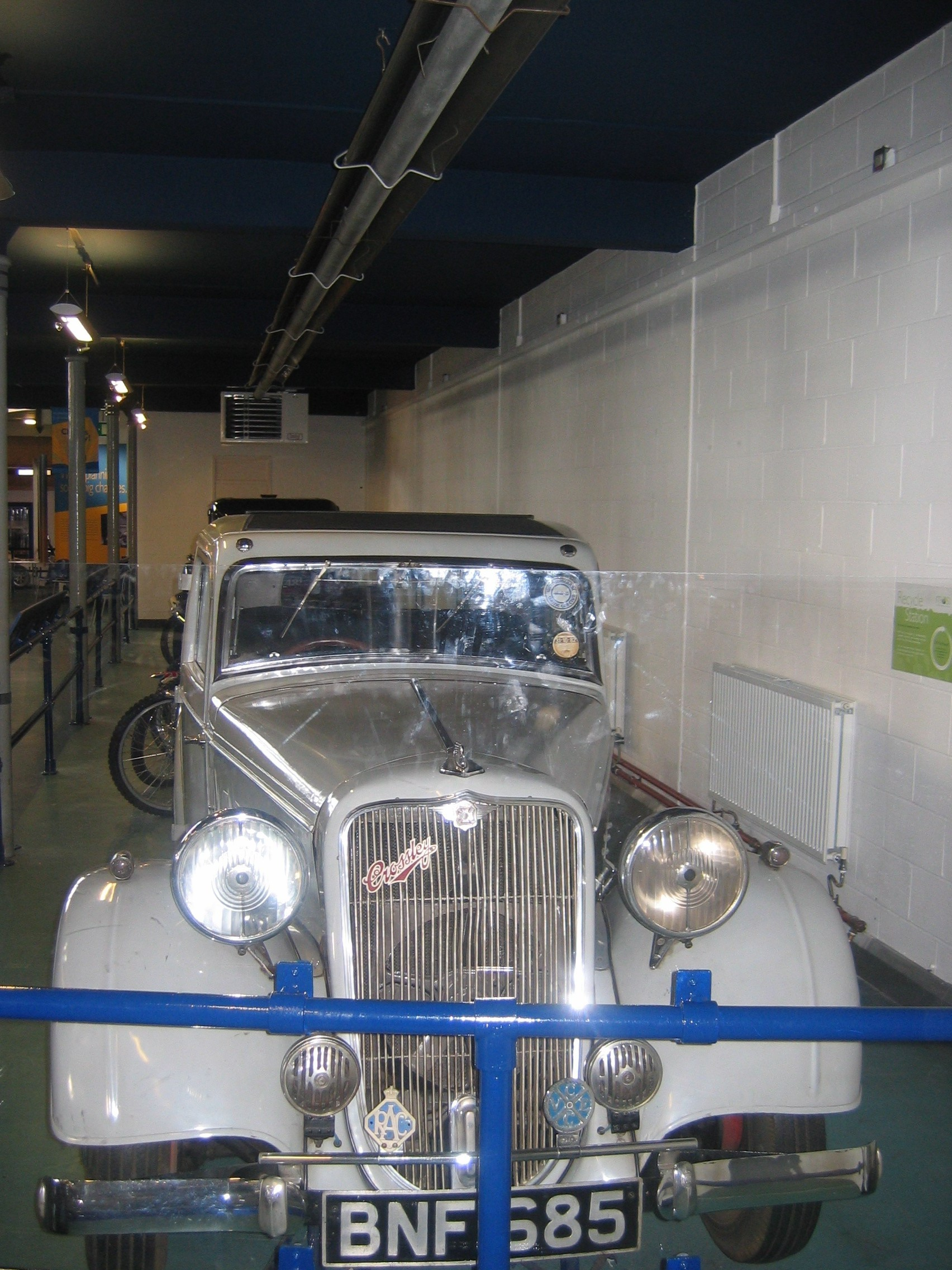 Photo taken by me – vintage car at Manchester's Museum Of Science And Industry