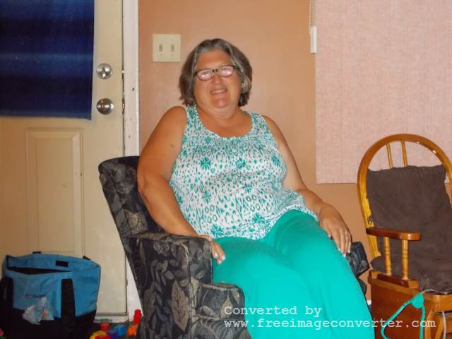 Grandma in the grandma chair