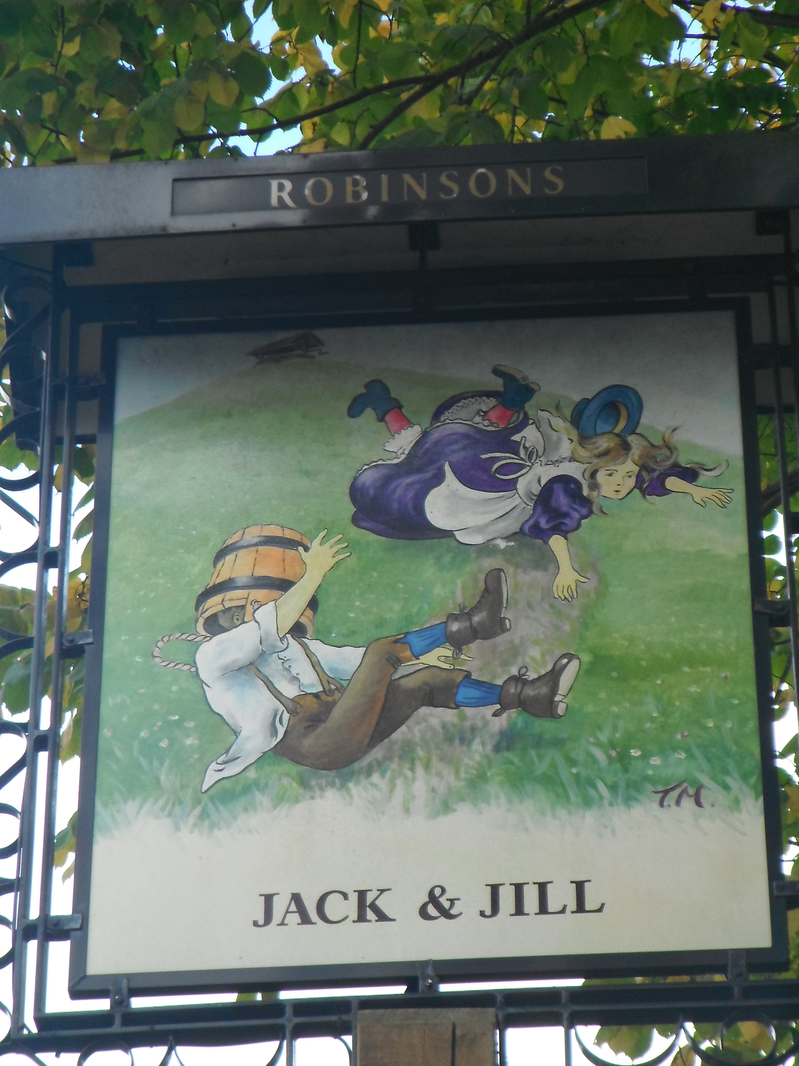 Photo taken by me - Pub Sign - The Jack And Jill Brinnington Stockport Cheshire