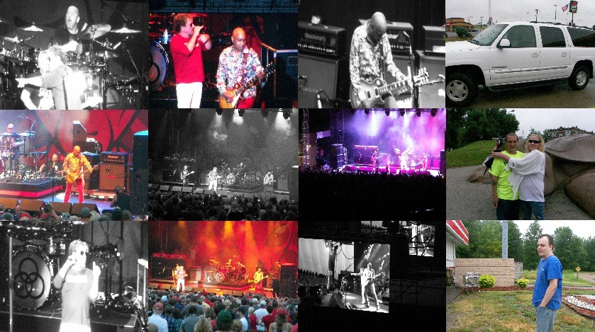 Sammy Hagar, Vic Johnson, Michael Anthony and Jason Bonham (The Circle) in St Louis July 3rd