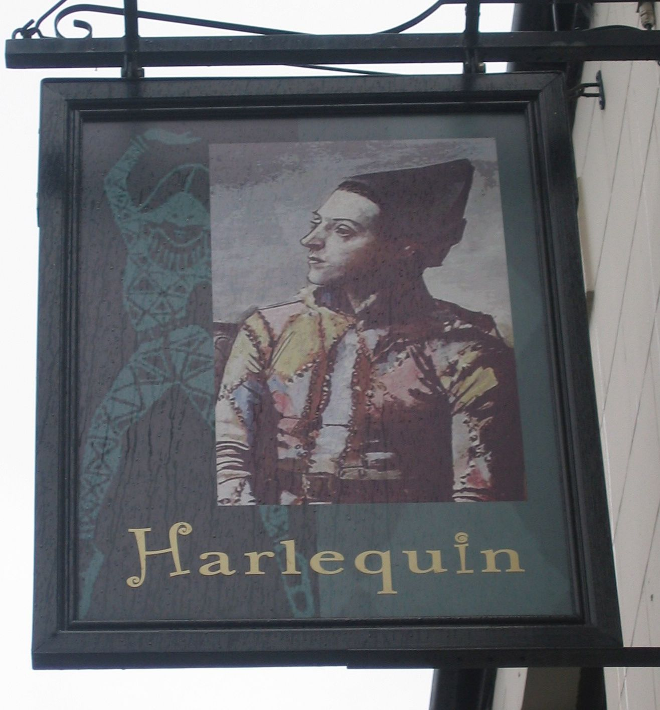 Pub Sign photo taken by me - The Harlequin Chadderton Manchester