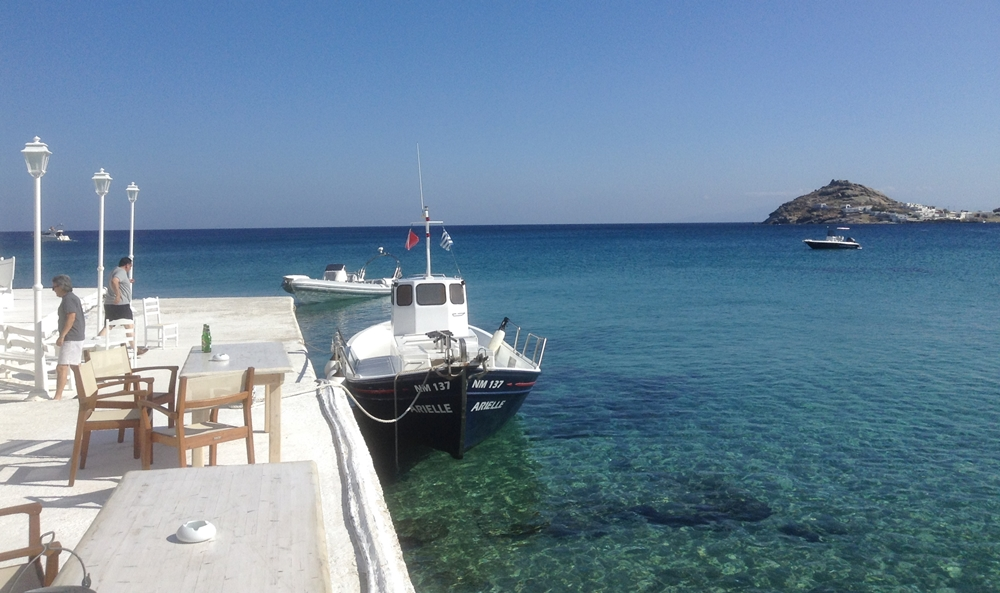 The Aegean Sea from the Island of Mykonos