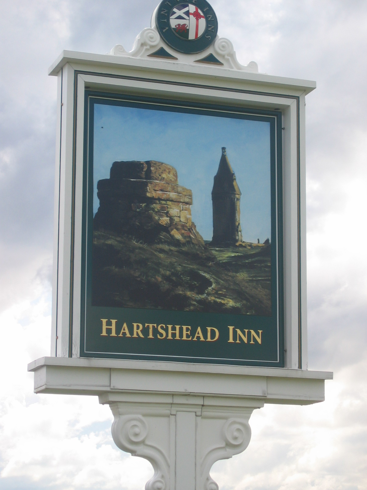 Photo taken by me - Pub Sign for The Hartshead - Ashton Manchester