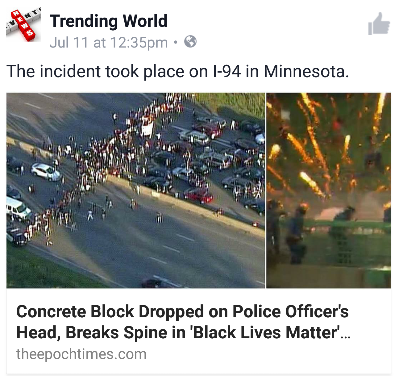 Violent protests are what the bias media likes to etch into our brains.