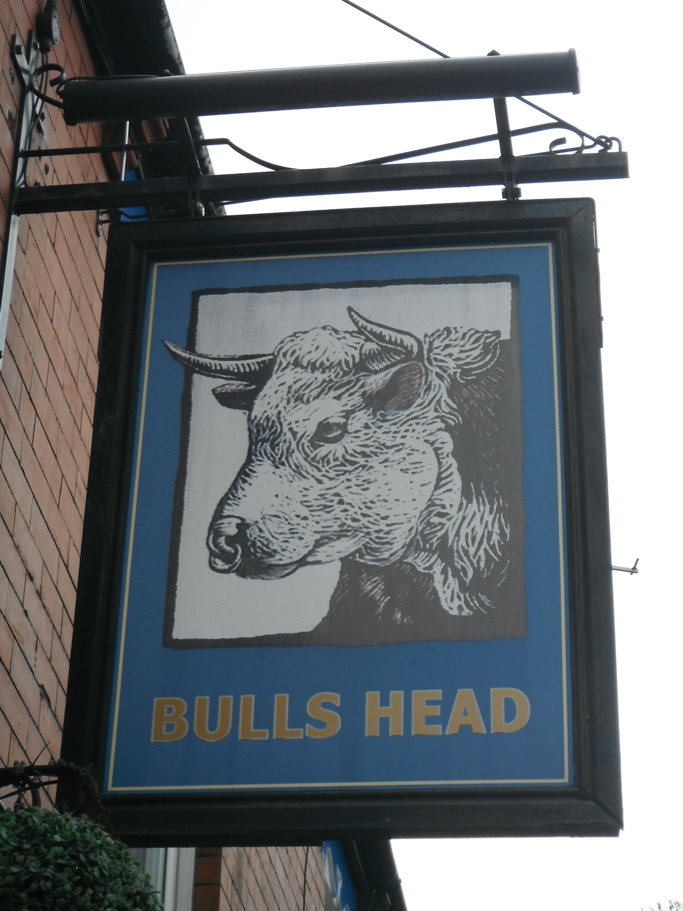 Photo taken by me – The Bulls Head Inn Sign – Oldham