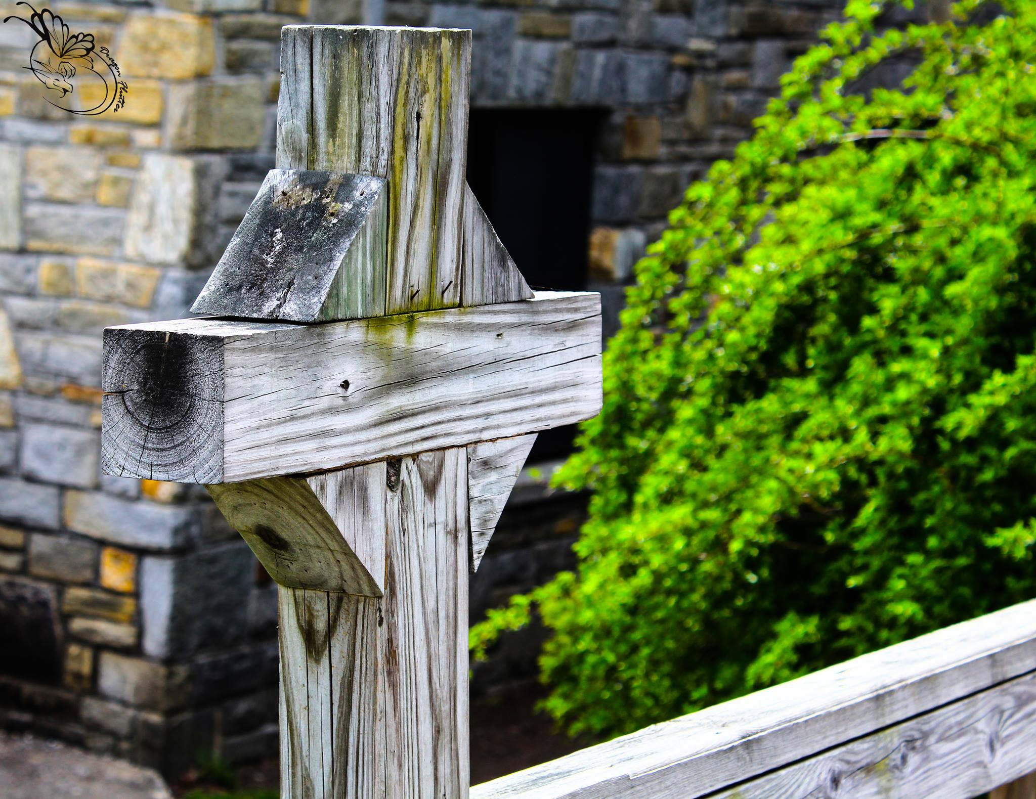 wood, cross, parking lot, photo, church