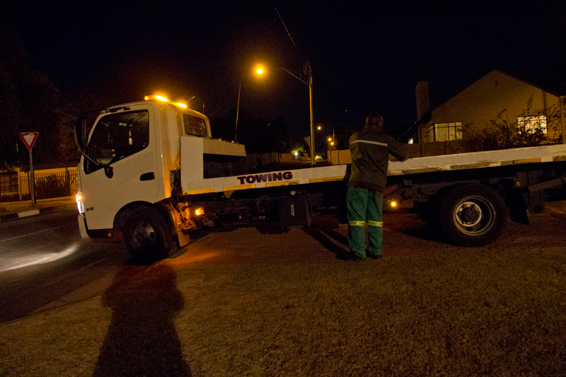 Photo of the tow truck, just before it left our house - ©Gina145