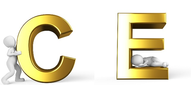 Letters c ande