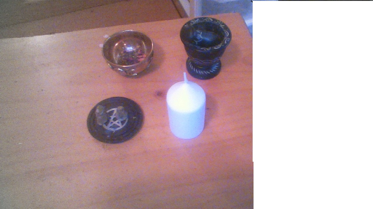 my photo of my candles and incense I made.