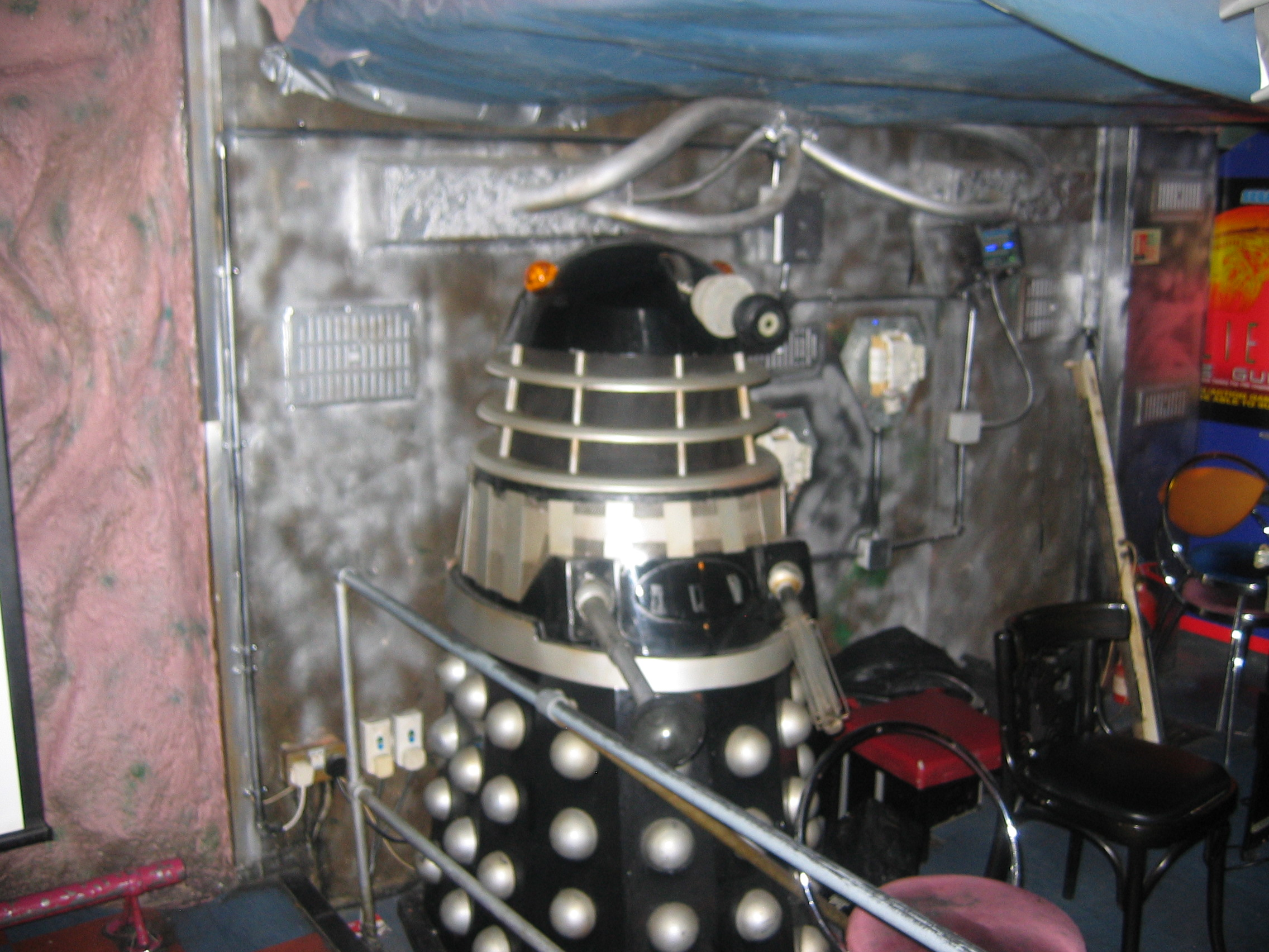 Photo taken by me – A Dalek displayed in FAB Café Manchester