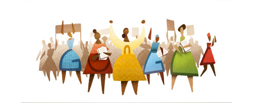 Google Doodle of Womans Day in SA