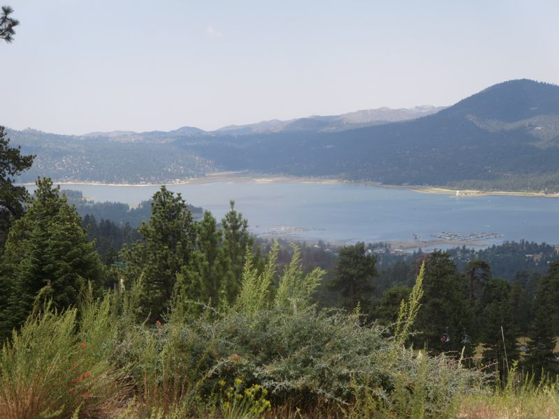 View of Big Bear Lake from Snow Summit - Southern CA