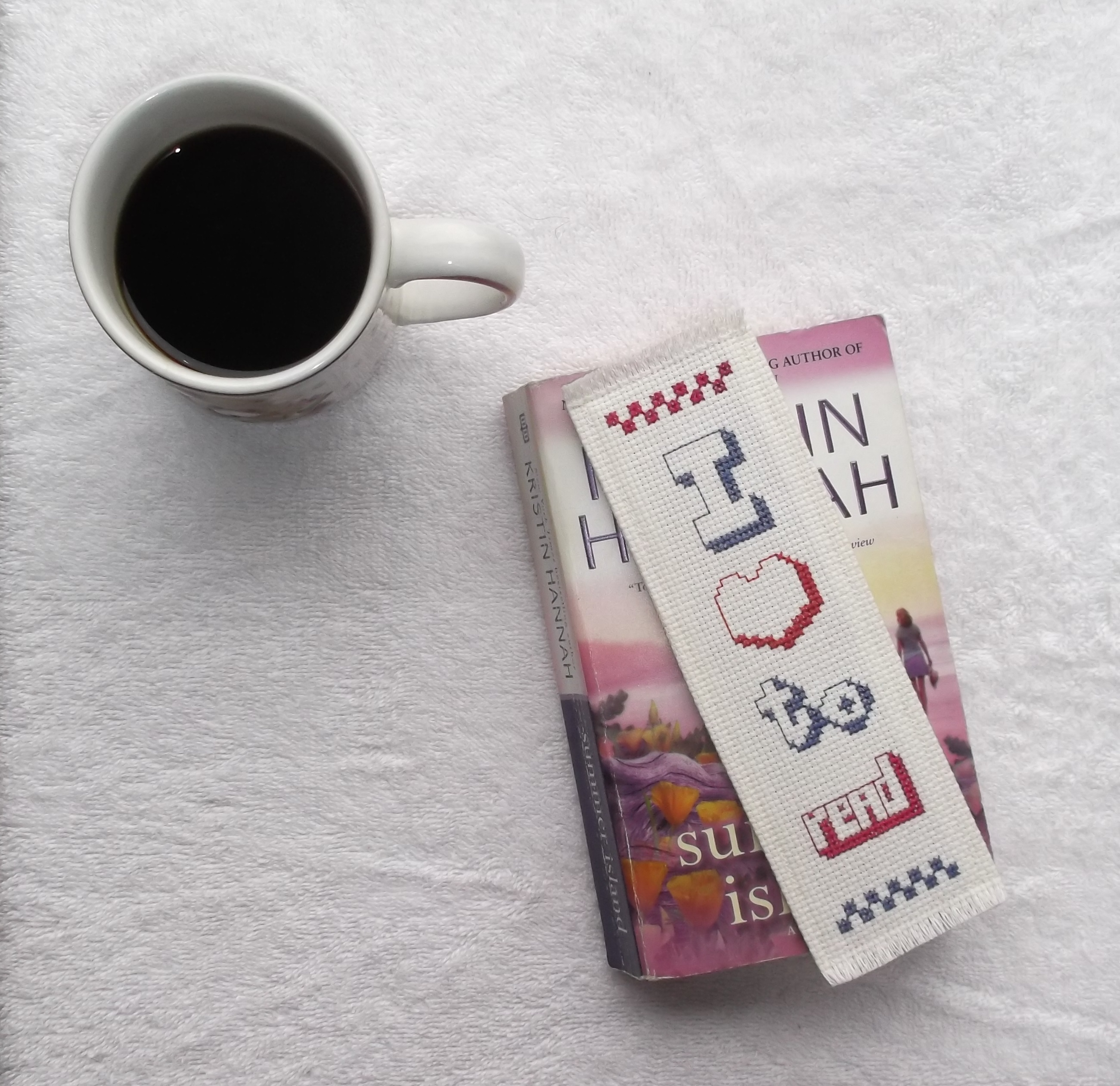 Photo of a bookmark that I made that I recently did not sell on ArtYah dot com.
