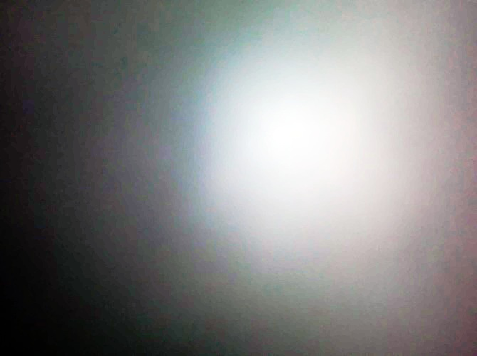 Photo I took of the sun in the fog with Equalize effect on LunaPic.com