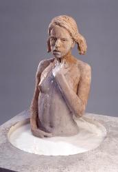 milk pump - sculpture with milk all over her