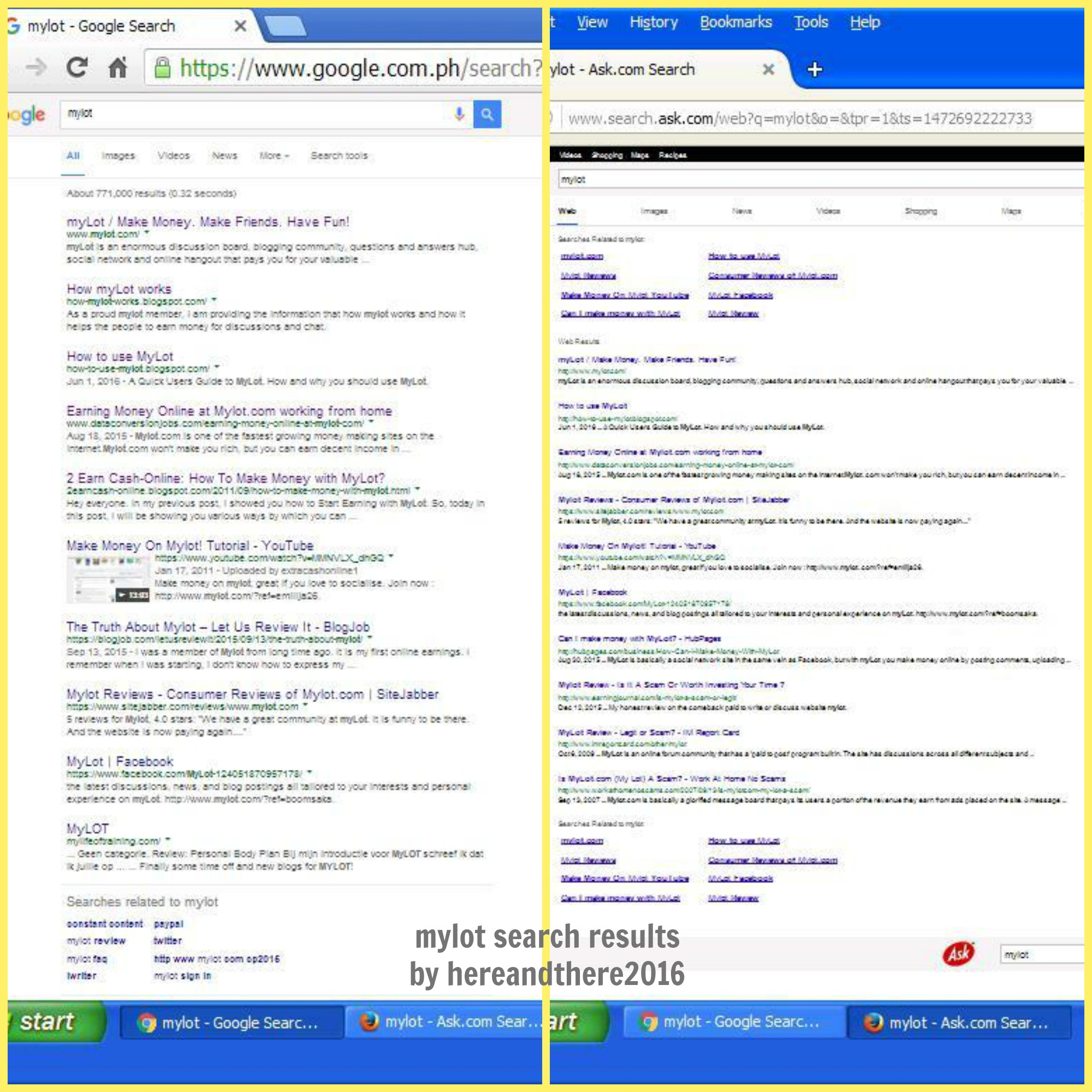 Mylot search results by hereandthere2016