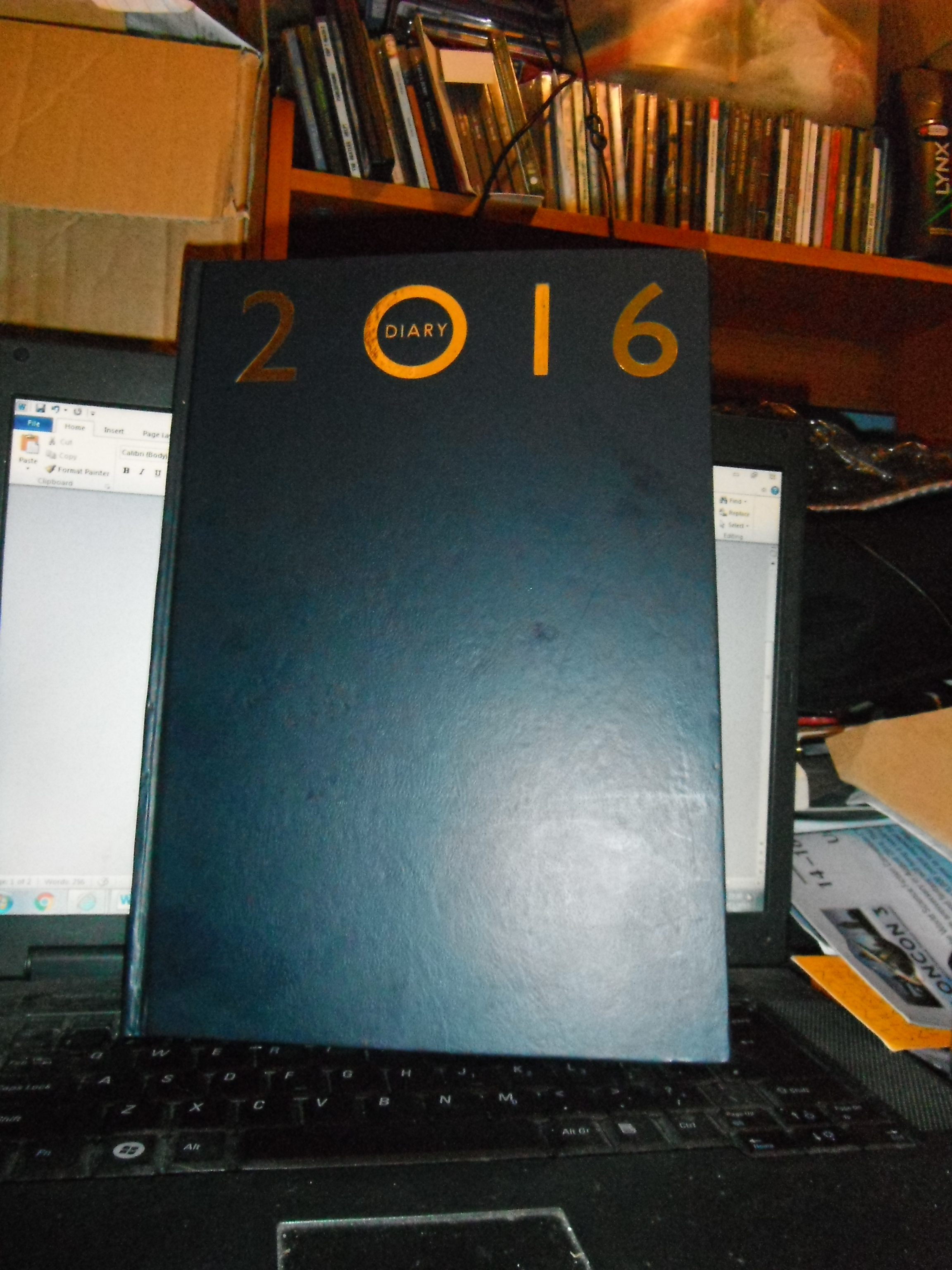 Photo taken by me – my 2016 diary