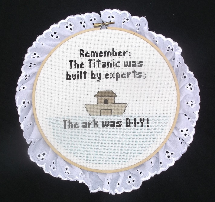 Photo of a counted cross stitch I put up on ArtYah today