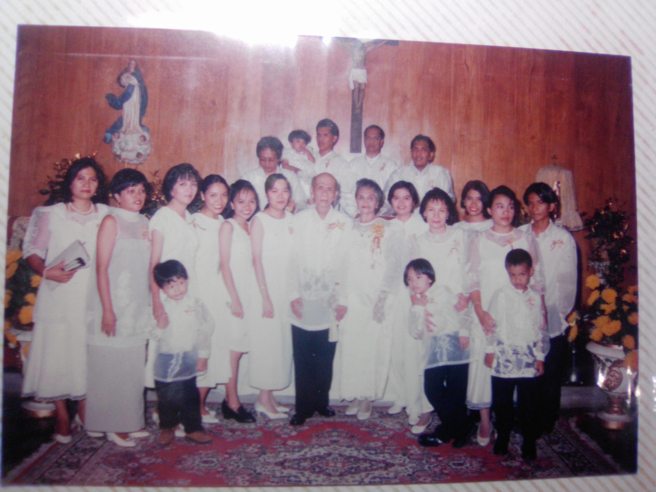 Golden wedding anniversary of Mang and Pang