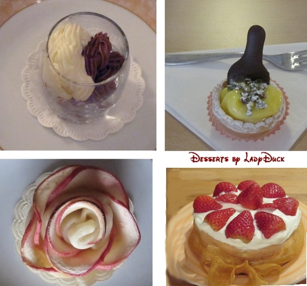 The photo is mine - the described desserts