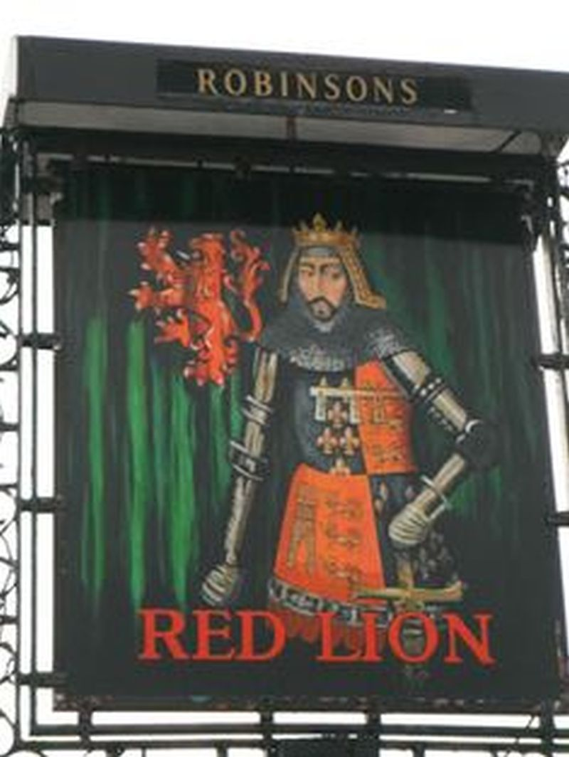 Photo taken by me – The Red Lion sign – High Lane, Stockport