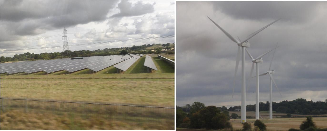 Solar wind farms